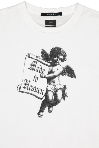 Angel Man Tee White