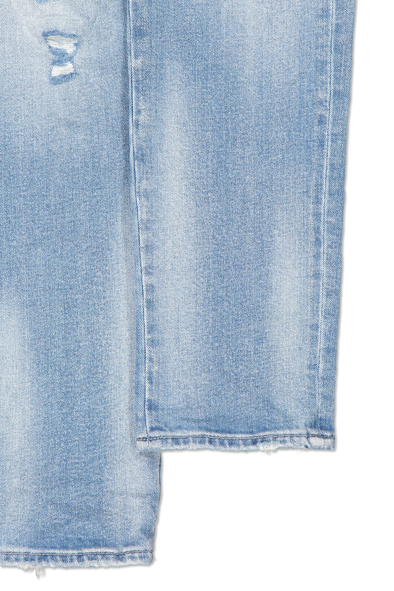 Cuff detail image of KSUBI Chitch Punk Blue Thrashed Denim