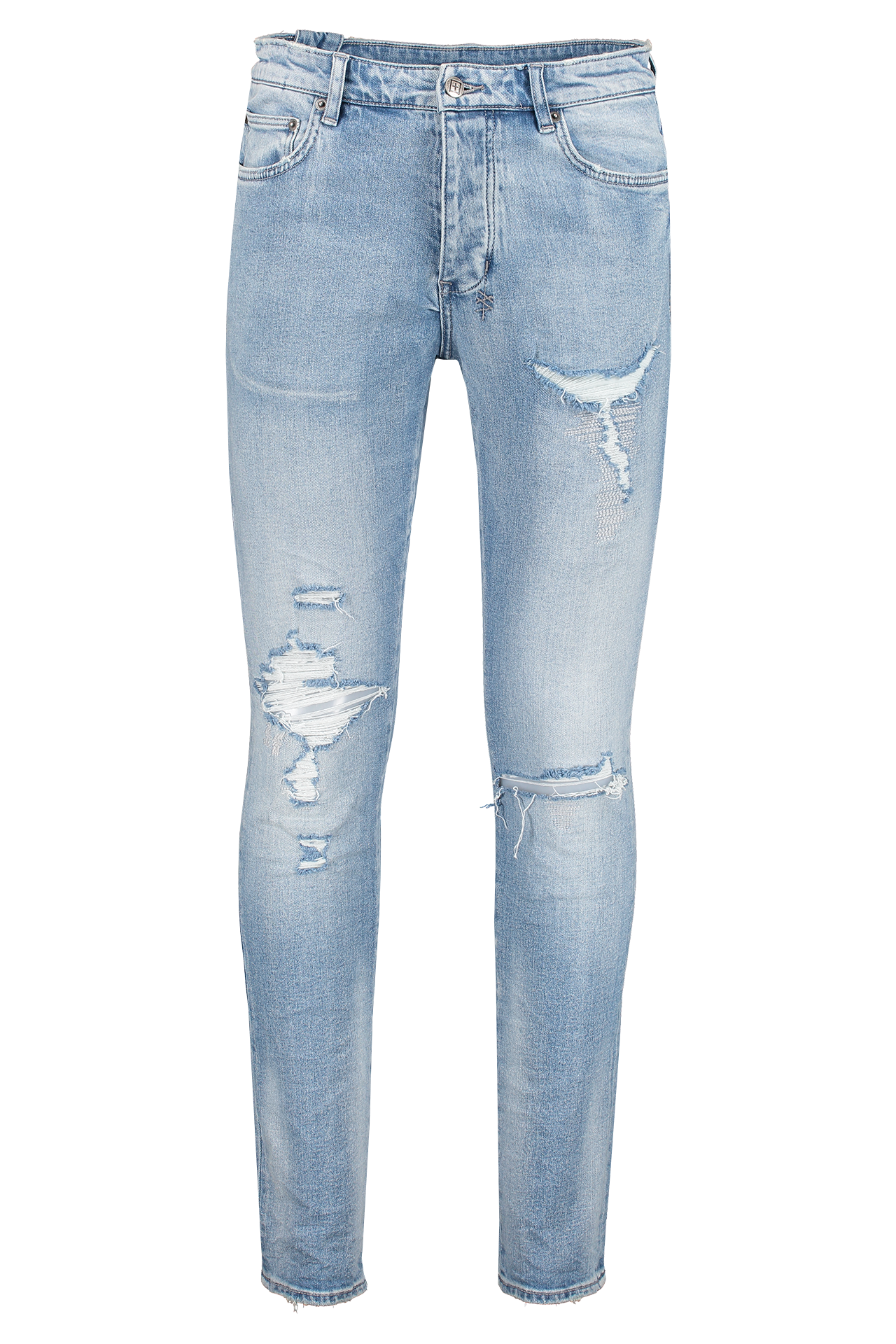 Front image KSUBI Chitch Punk Blue Thrashed Denim