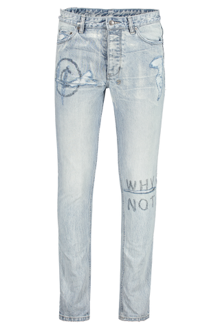 Front view image of Ksubi Chitch Stoked Scribe Denim