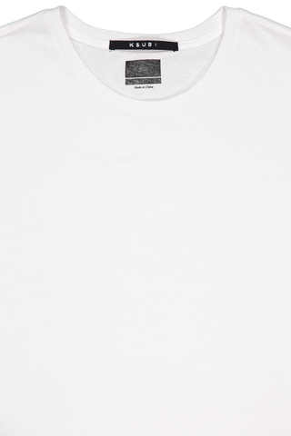STK SS SEEING LINES TEE WHITE