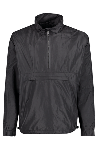 Front view image of Ksubi Sequence Funnel Neck Jacket Black