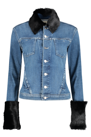 Front view image of L'AGENCE Shea Shearling Jean Jacket