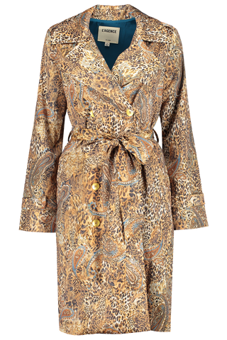 Front view image of L'AGENCE Atticus Trench Coat