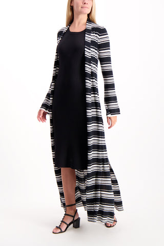 Full Body Image Of Model Wearing Aveline Knit Halter Dress