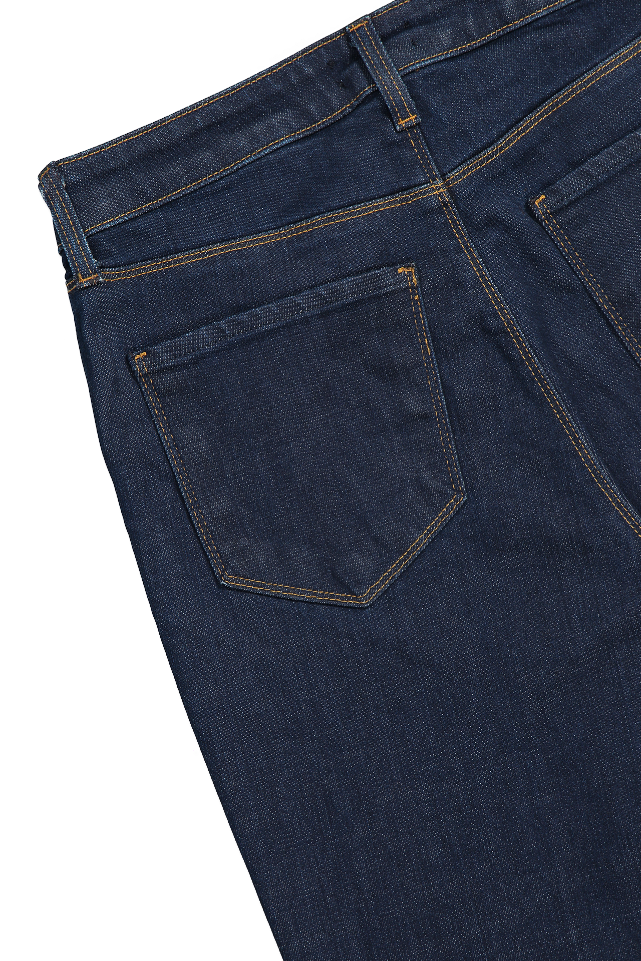 Back Pocket Detail Bell High Rise Flare