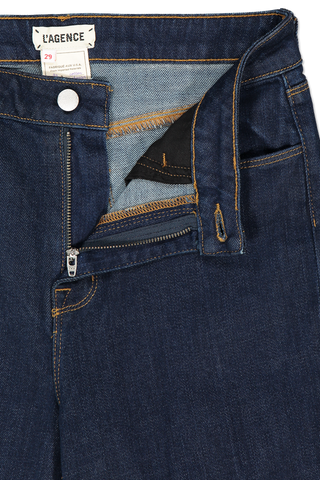 Zipper Detail Bell High Rise Flare