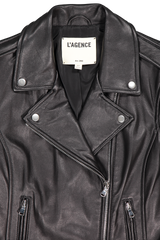 Collar Detail Image Of L'agnece biker jacket