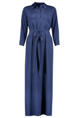 Front view image of L'AGENCE Cameron Long Shirt Dress