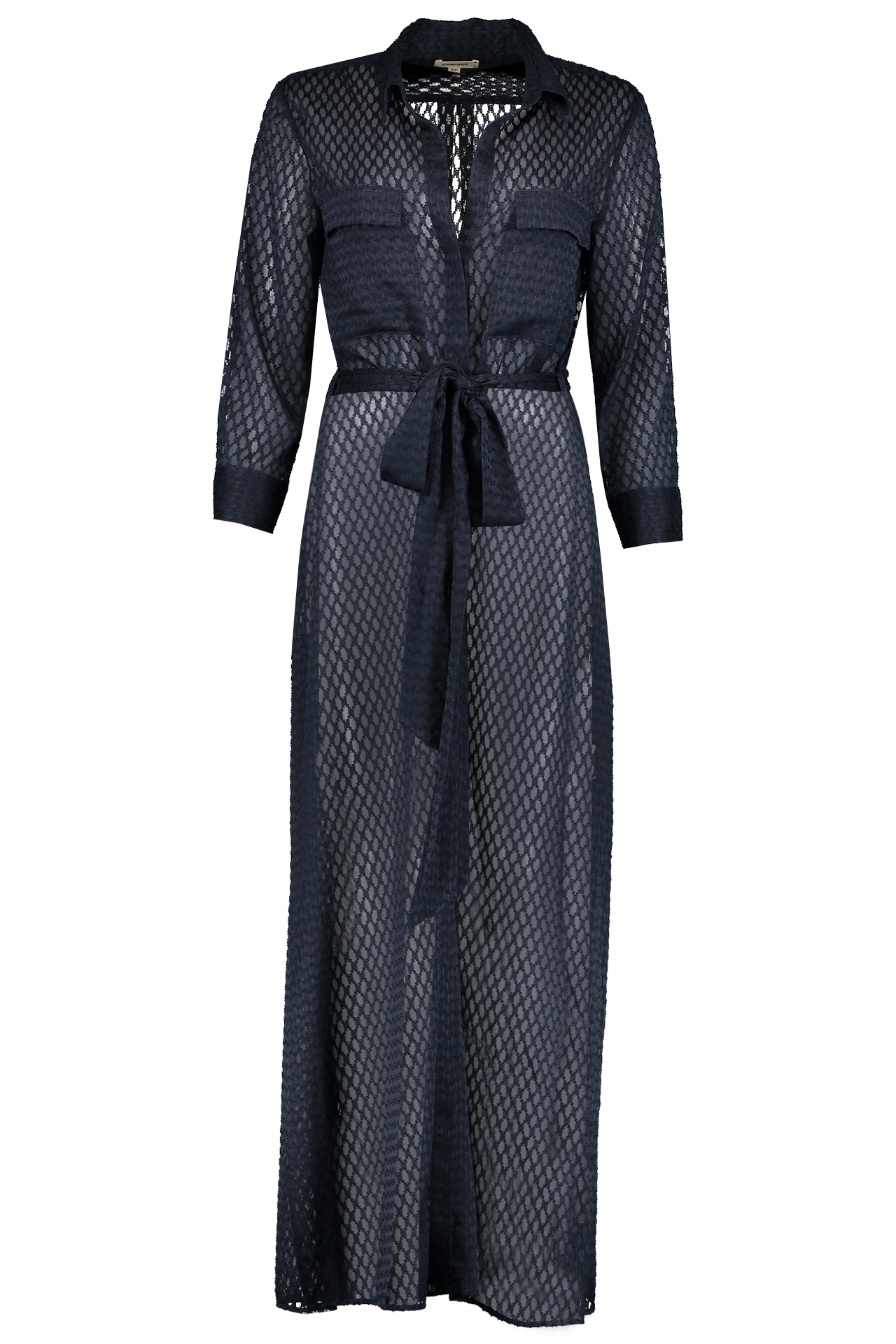 Full Length Front Image Cameron Long Shirt Dress