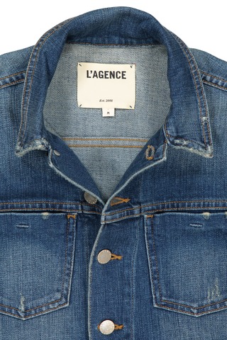 WSTK CELINE DENIM JKT AUTHENIQUE DISTRESSED