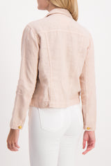 Back Crop Image Of Model Wearing Celine Slim Femme Jacket