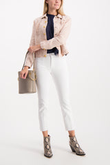Full Body Image Of Model Wearing Celine Slim Femme Jacket