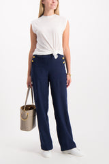 Full Body Image Of Model Wearing Dee High Rise Sailor Pant