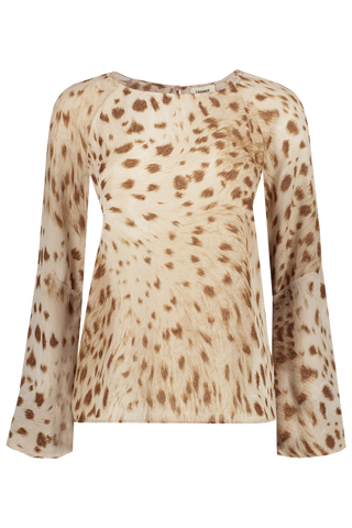 Dylan Bell Sleeve Blouse Cacao