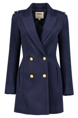 Front view image of L'AGENCE Emmi Peacoat Navy