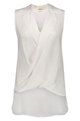 Sleeveless Freja Blouse In Ivory