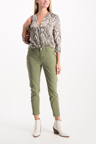 Full Body Image Of Model Wearing Jem High Rise Trouser