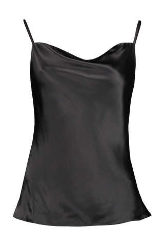 Front Image Of L'agence Kay Cowl Tank Black