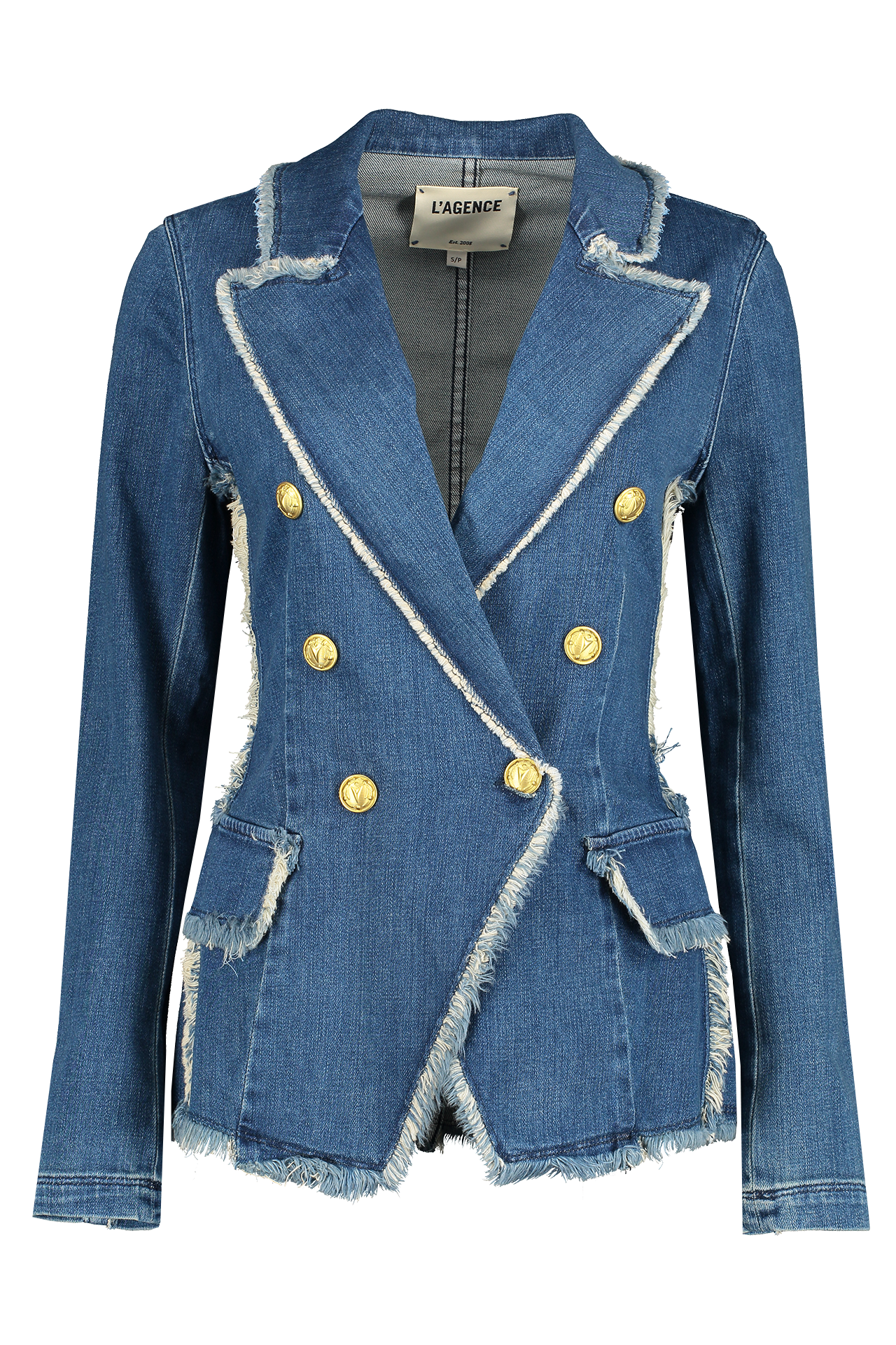 Front view image of L'AGENCE Kaydence Fray Jacket