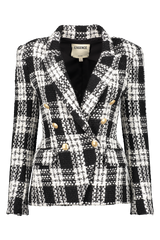 Front view image of L'AGENCE Kenzie Double Breasted Blazer