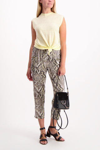 Full Body Image Of Model Wearing Leigh Drapey Cargo Pant
