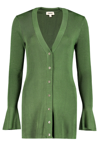 Front view image of L'agence Lucas Long Cardigan Elm Tree
