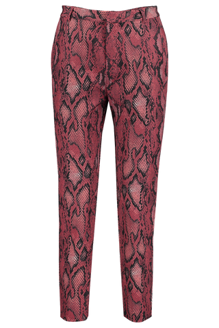 Front Image Of L'agence Ludivine Trouser in Garnet/Black