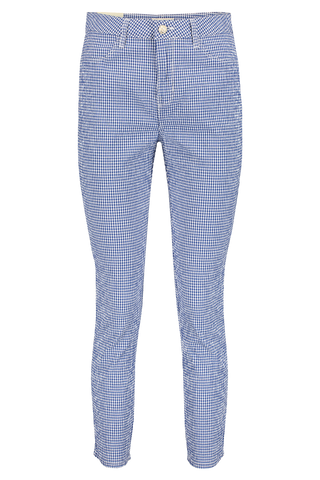 Mandy High Rise Skinny Blue and White