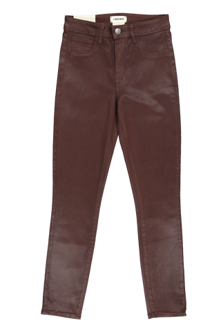 Front view image of L'Agence Margot Skinny Jean Cocoa Coated
