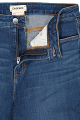 Waistline and zipper detail image of L'AGENCE Margot High Rise Skinny Laguna
