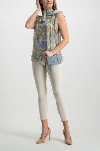Full Body Image Of Model Wearing  L'agence Margot High Rise Skinny Jean Granite