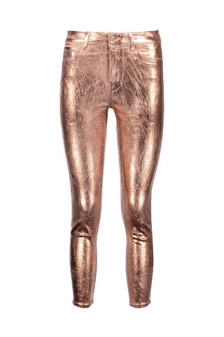 Front Image of Lágence Margot High Rise Skinny Rose Gold