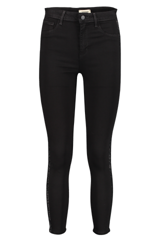 Front view image of L'AGENCE Margot High Rise Tux Skinny Noir