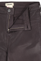 Waistline and zipper detail image of L'AGENCE Marguerite High Rise Skinny