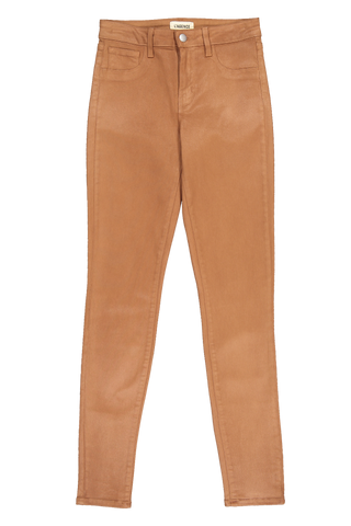 Front view image of L'Agence Marguerite Skinny Pant Java Coated