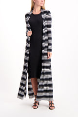 Full Body Image Of Model Wearing Marija Duster Cardigan