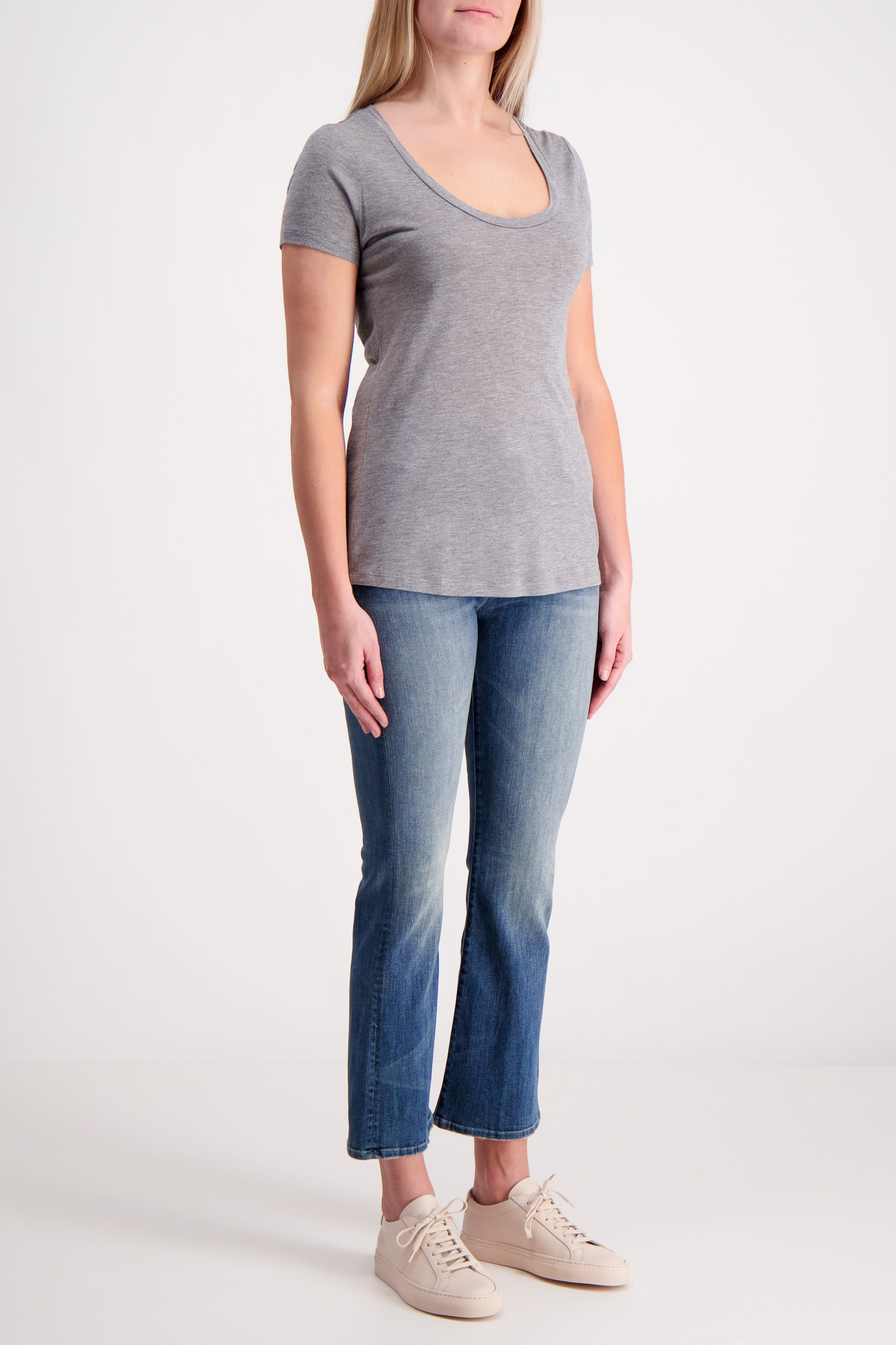 SHORT SLEEVE PERFECT T GREY