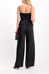 Back Crop Image Of Model Wearing Rannah Cowl Jumpsuit