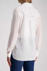 Long Sleeve Rita Blouse In Ivory