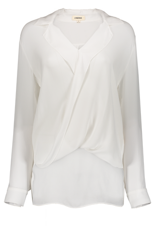 Long Sleeve Rita Blouse Ivory