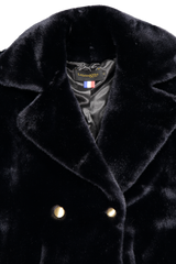 Front collar and lapel detail image of La Seine & Moi Brigitte Caban Coat