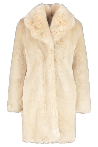 Front Image of La Seine & Moi Louve Long Coat Beige