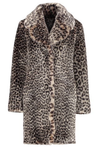 Front Image Of Louve Long Coat Leopard