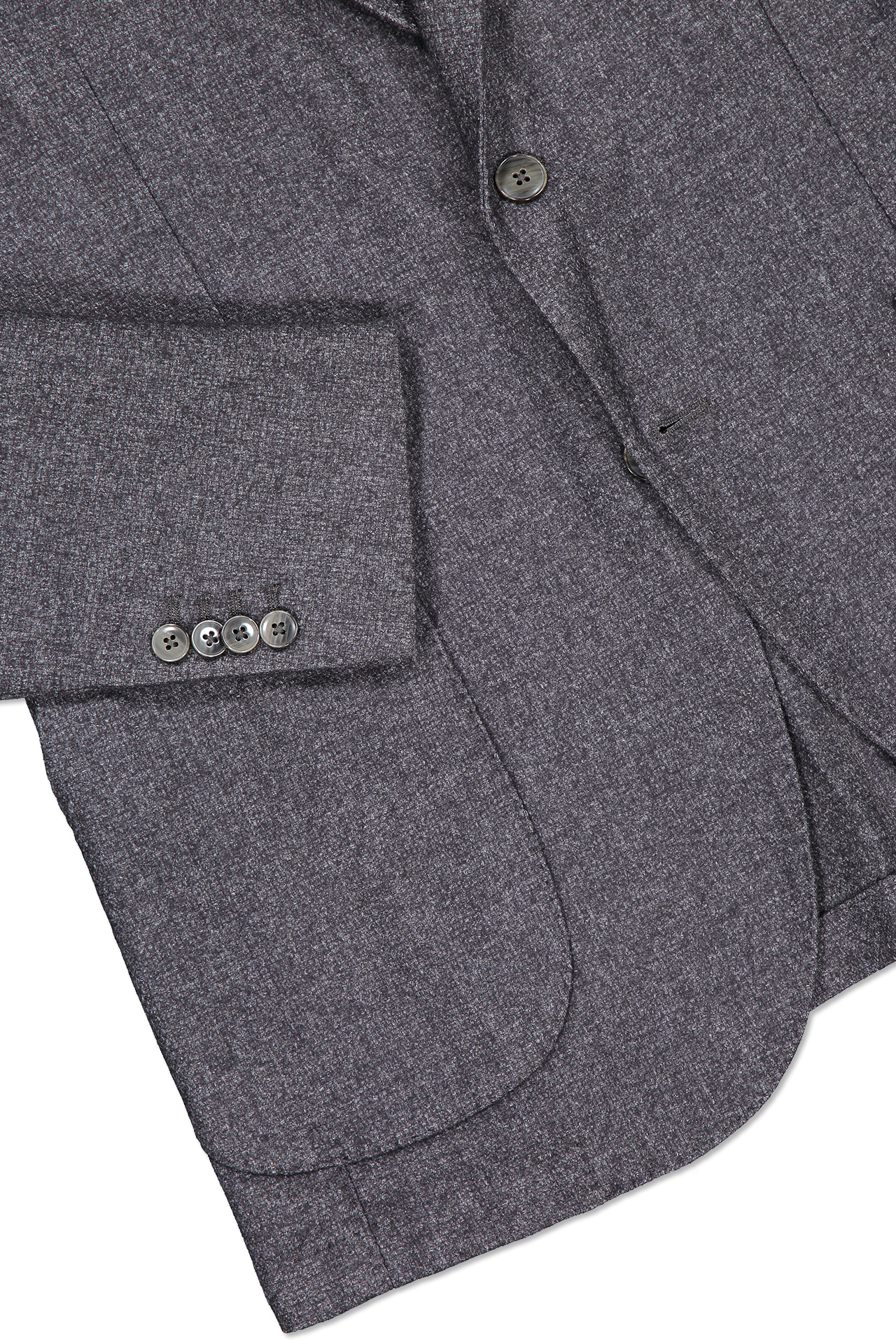 Hemline and sleeve detail image of L.B.M. 1911 Textured Wool Sportcoat