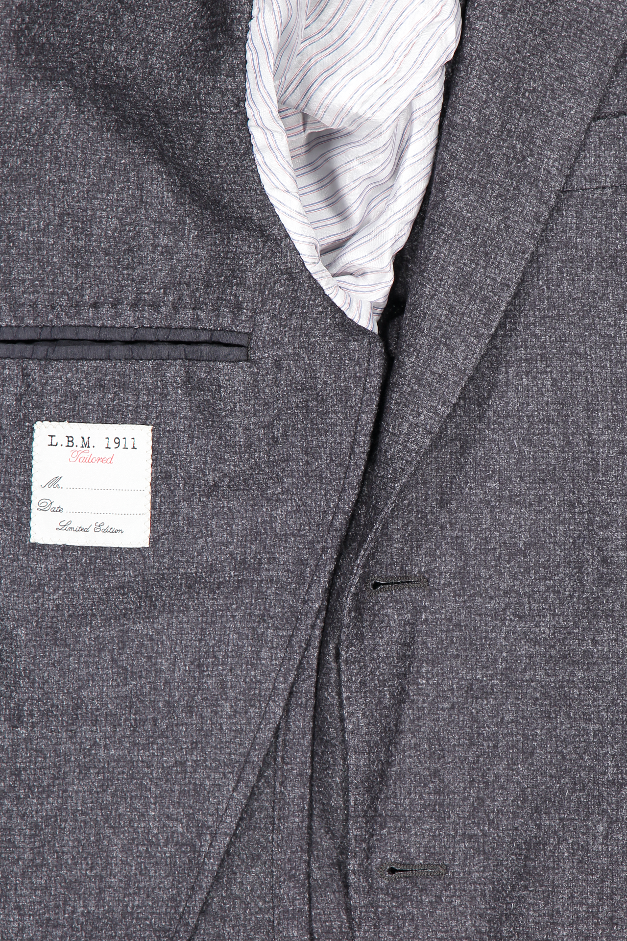 Interior detail image of L.B.M. 1911 Textured Wool Sportcoat