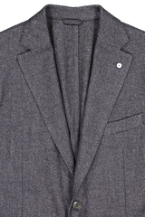 Lapel detail image of L.B.M. 1911 Textured Wool Sportcoat