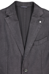 Wool Herringbone Sportcoat Black