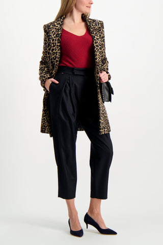 Full Body Image Of Model Wearing Les Garconnes Marlene Wool Trouser