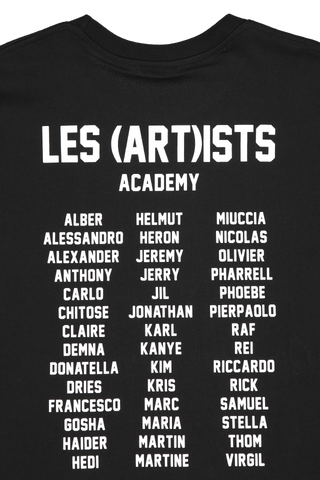 Back Collar Detail Image of LES (ART)ISTS Short Sleeve Academy T-Shirt In Black